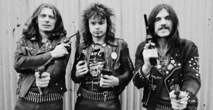 Motorhead com Eddie Clarke, Phil Taylor e Lemmy Kilmister