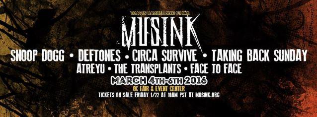 Musink Festival anuncia line-up com Snoop Dogg, Deftones, Transplants e mais
