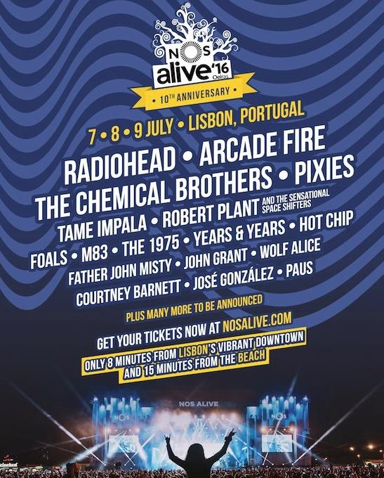 NOS Alive 2016 - Line-up