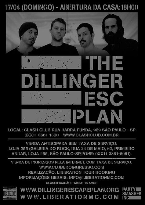 The Dillinger Escape Plan no Brasil