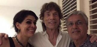 Caetano Veloso e Mick Jagger