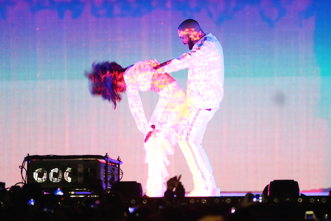 Drake e Rihanna no BRIT Awards
