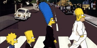 The Simpsons em Abbey Road