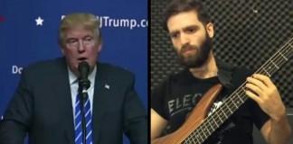 Baixista transforma discurso de Donald Trump em música - vídeo