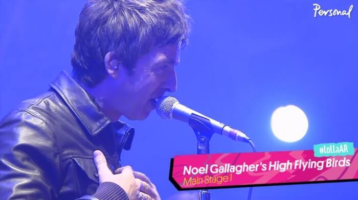Noel Gallagher no Lollapalooza Argentina