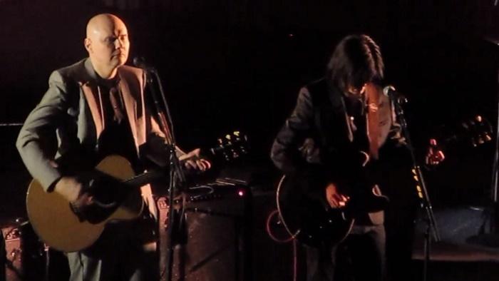Billy Corgan e James Iha do Smashing Pumpkins