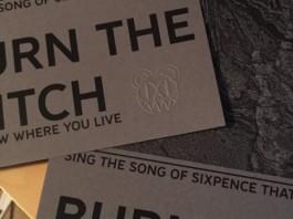 Panfleto do Radiohead com Burn The Witch