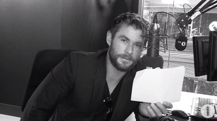 Chris Hemsworth faz leitura dramática de