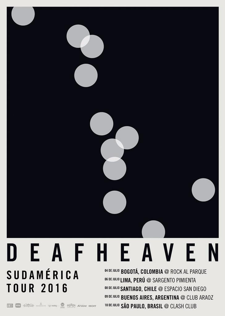 Cartaz da turnê do Deafheaven na América do Sul