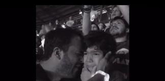Fã mexicano do Coldplay registra reação de filho autista