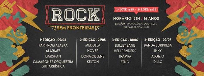 Rock sem Fronteiras 2016: Festival brasiliense revela lineup