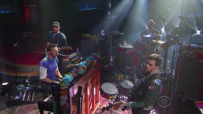 Coldplay no programa de Stephen Colbert