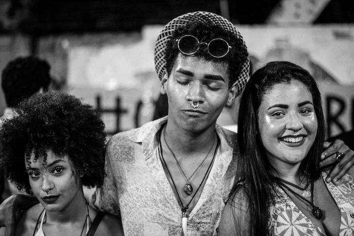 Estudantes durante o Viradão Musical no Cairu