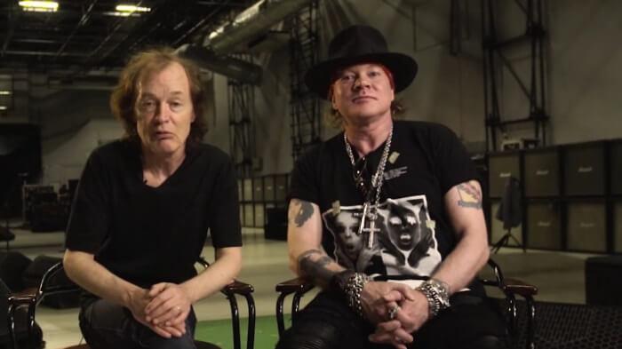Axl Rose e AC/DC em vídeo