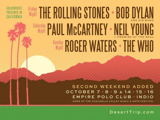 Desert Trip: festival ganha segundo final de semana