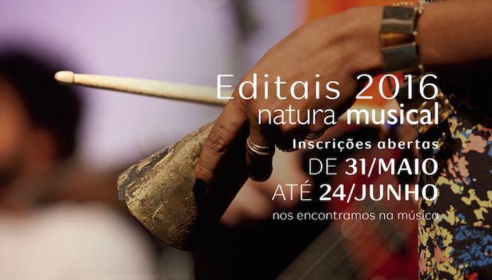 Editais 2016 do Natura Musical