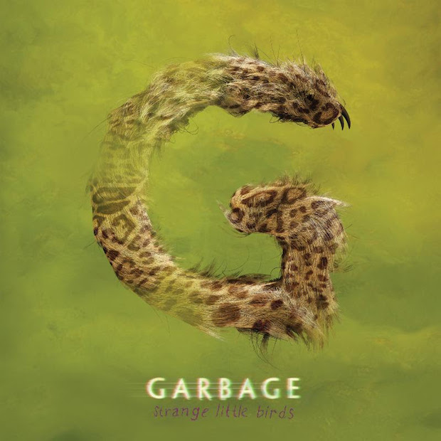 "capa do novo disco do garbage, ""strange little birds"""