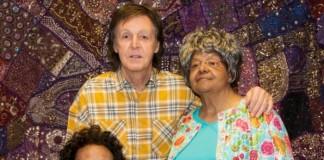 Paul McCartney e mulheres do Little Rock Nine