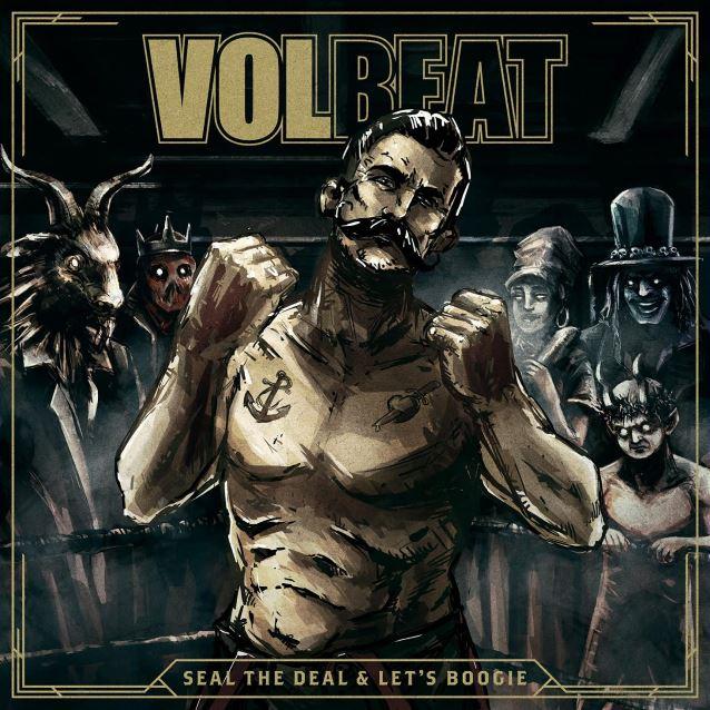 """capa do novo disco do volbeat, """"seal the deal & let's boogie"""""""