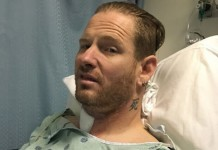 Corey Taylor do Slipknot no hospital