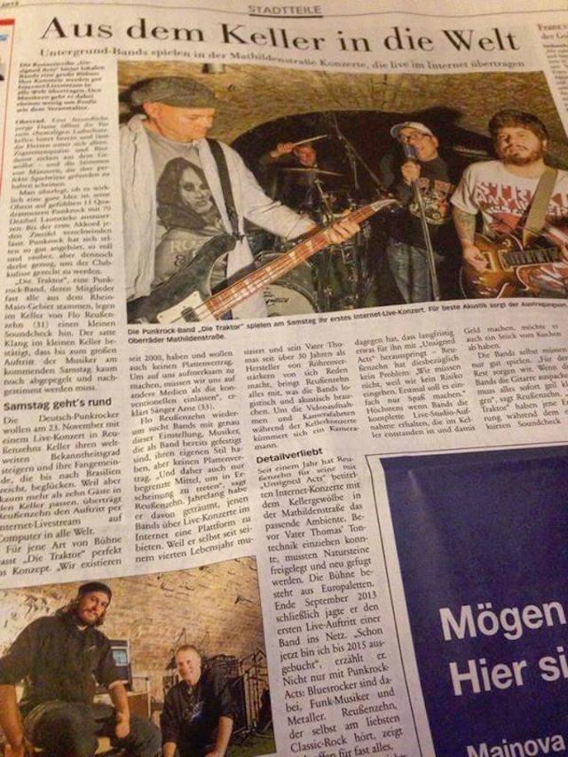 Die Traktor vira notícia em jornal alemão em 2013