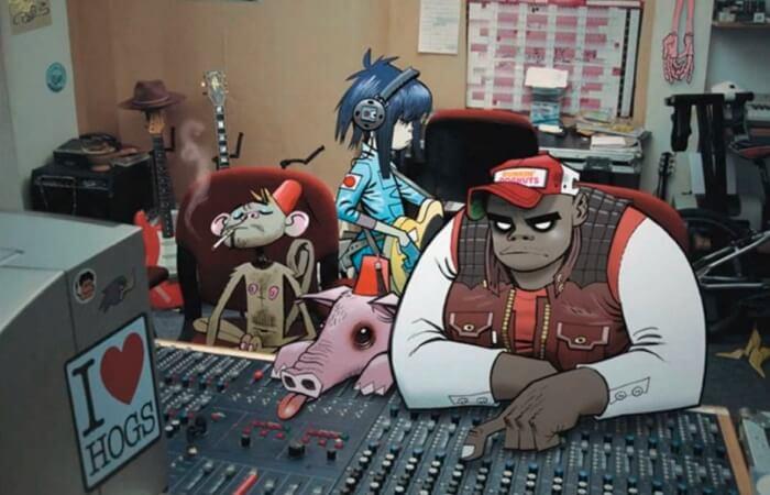 Gorillaz em estúdio