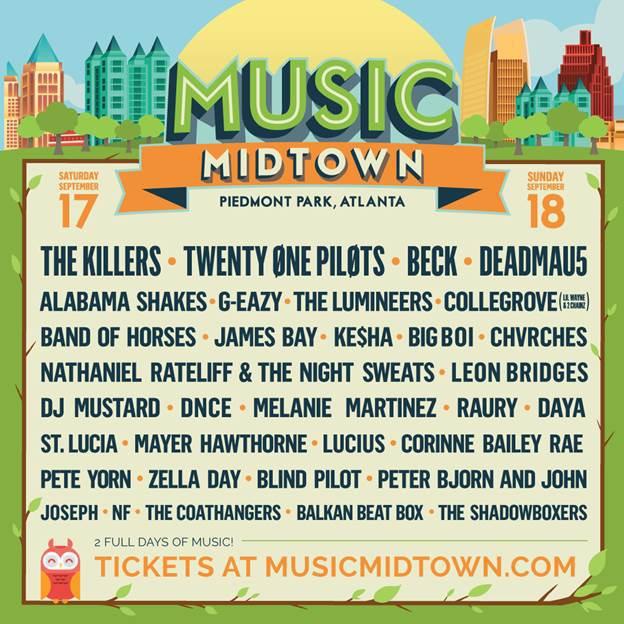 poster do festival music midtown