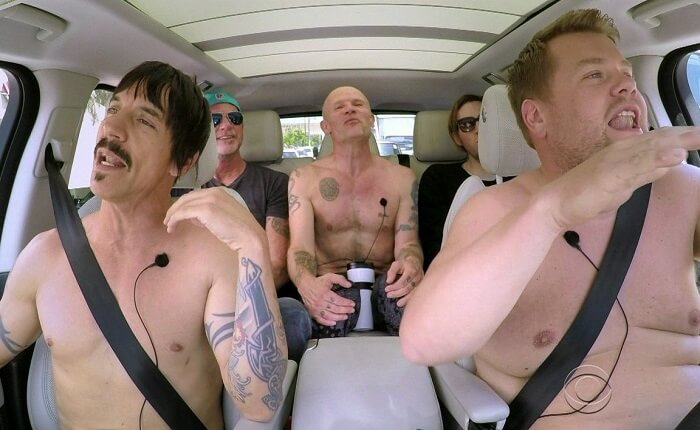 Red Hot Chili Peppers participa do Carpool Karaoke com James Corden
