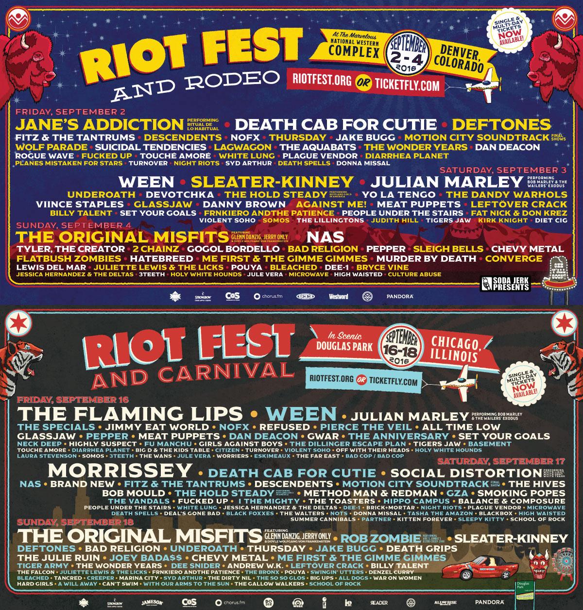 poster do riot fest 2016