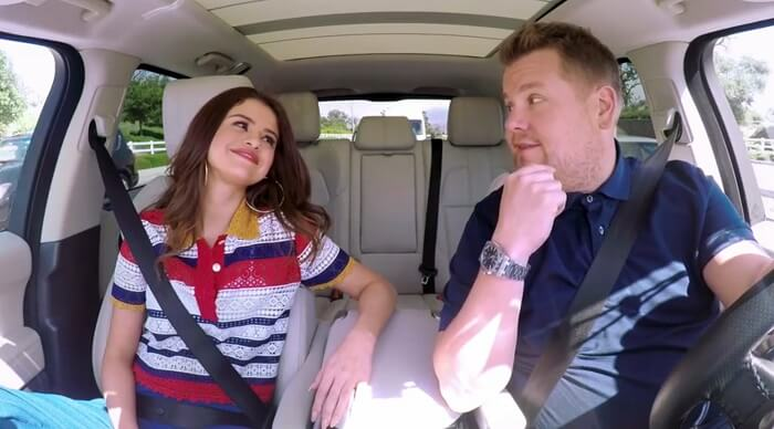 Selena Gomez participa do Carpool Karaoke com James Corden