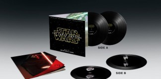 Disco de vinil de Star Wars com holograma