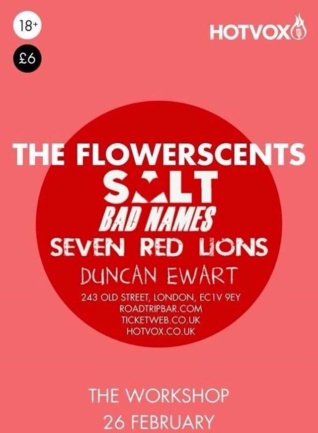 The Flowerscents - Poster de show
