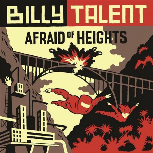 "capa do novo disco do billy talent, ""afraid of heights"""