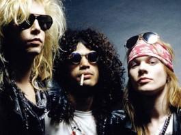 Duff, Slash e Axl do Guns N Roses
