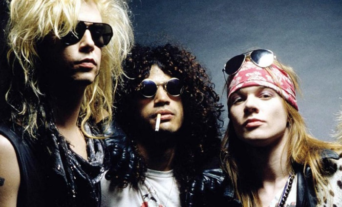 Duff, Slash e Axl do Guns N Roses