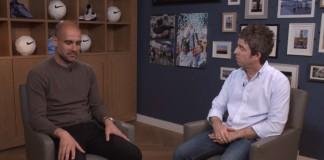 Pep Guardiola e Noel Gallagher