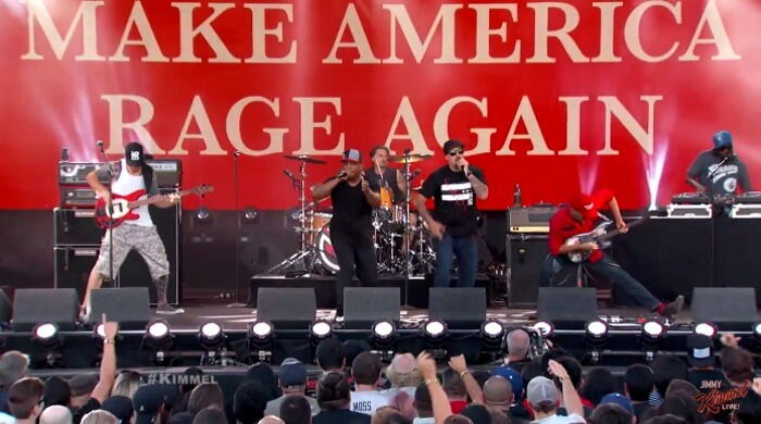 Prophets Of Rage no programa de Jimmy Kimmel