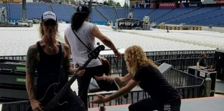 Steven Adler com Slash e Duff McKagan