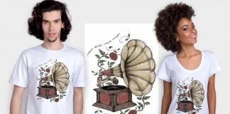 Camiseta do Tenho Mais Discos Que Amigos! com a Chico Rei