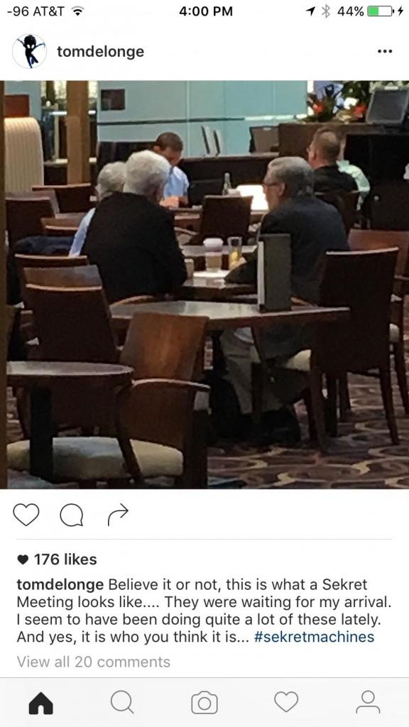 Tom DeLonge e suposta reunião