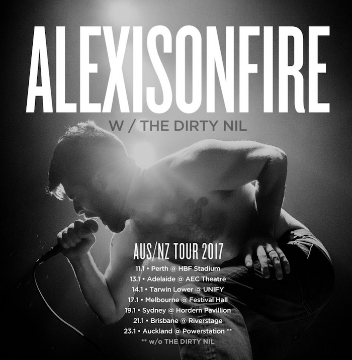 Alexisonfire poster turne 2017
