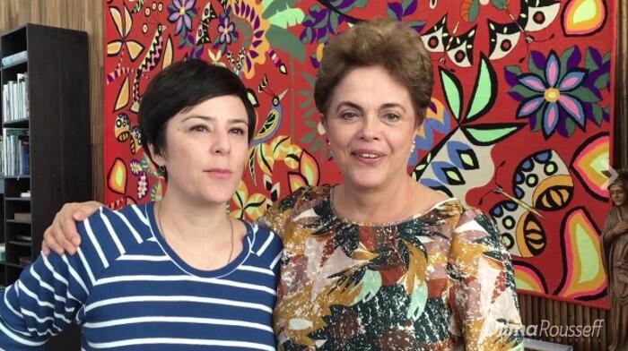 Fernanda Takai e Dilma Rousseff