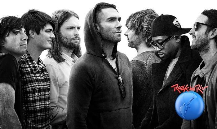 Resultado de imagem para maroon 5 no rock in rio 2017