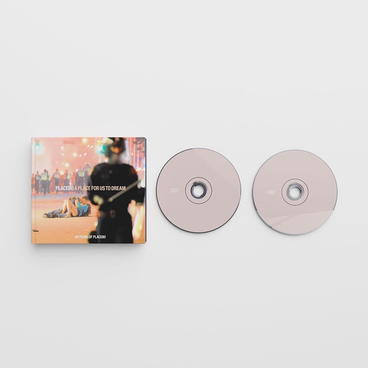 """edição em cd da coletânea """"a place for us to dream"""" do placebo"""