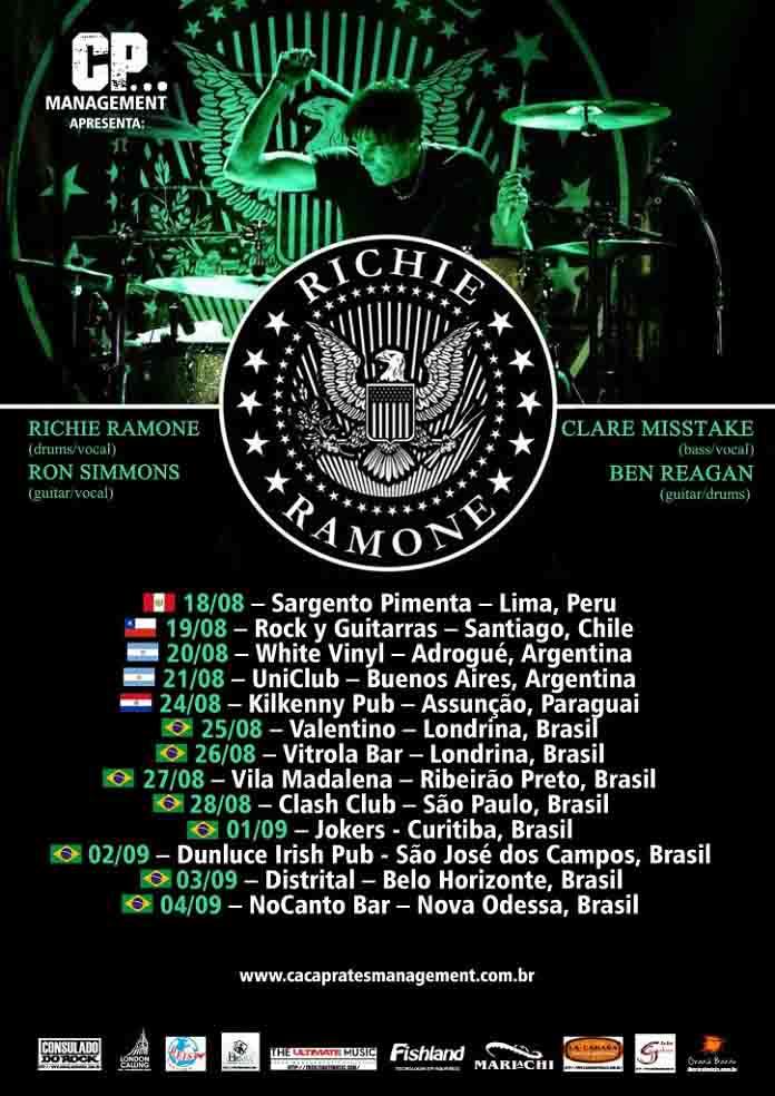 Richie Ramone vem ao Brasil para shows e tarde de autógrafos