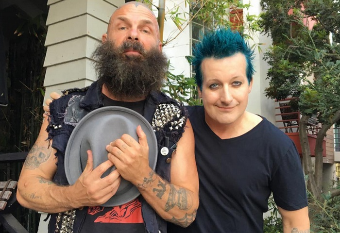 Tim Armstrong (Rancid) e Tre Cool (Green Day)
