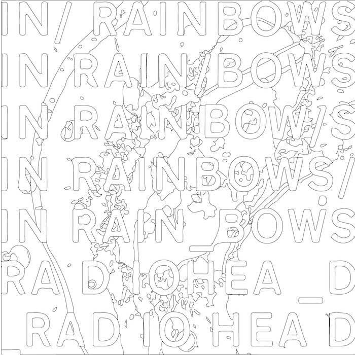 Radiohead - In Rainbows para colorir