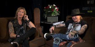 Axl Rose e Duff McKagan em entrevista para o Fantástico