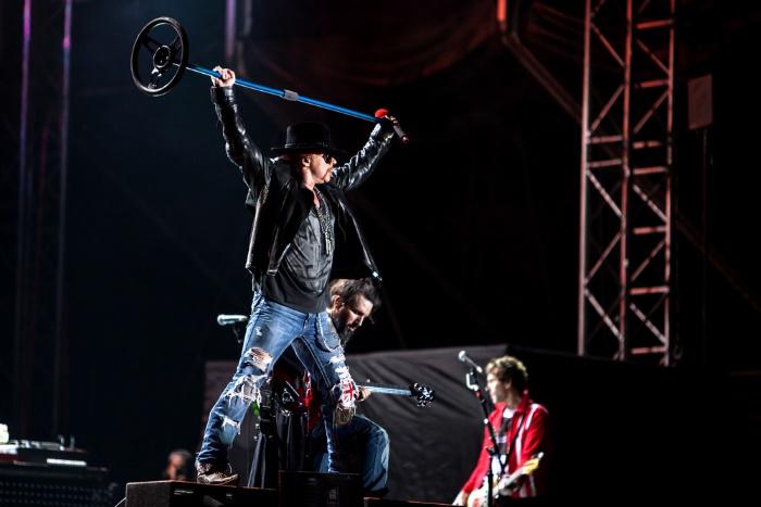 Axl Rose com o Guns N' Roses em 2012