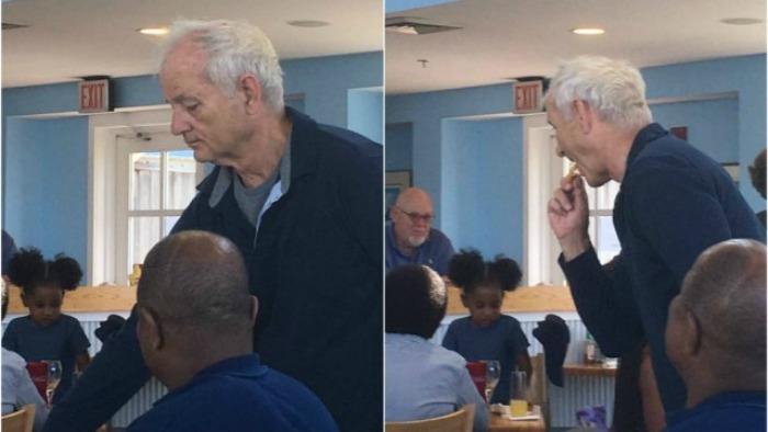 Bill Murray é flagrado roubando batata frita